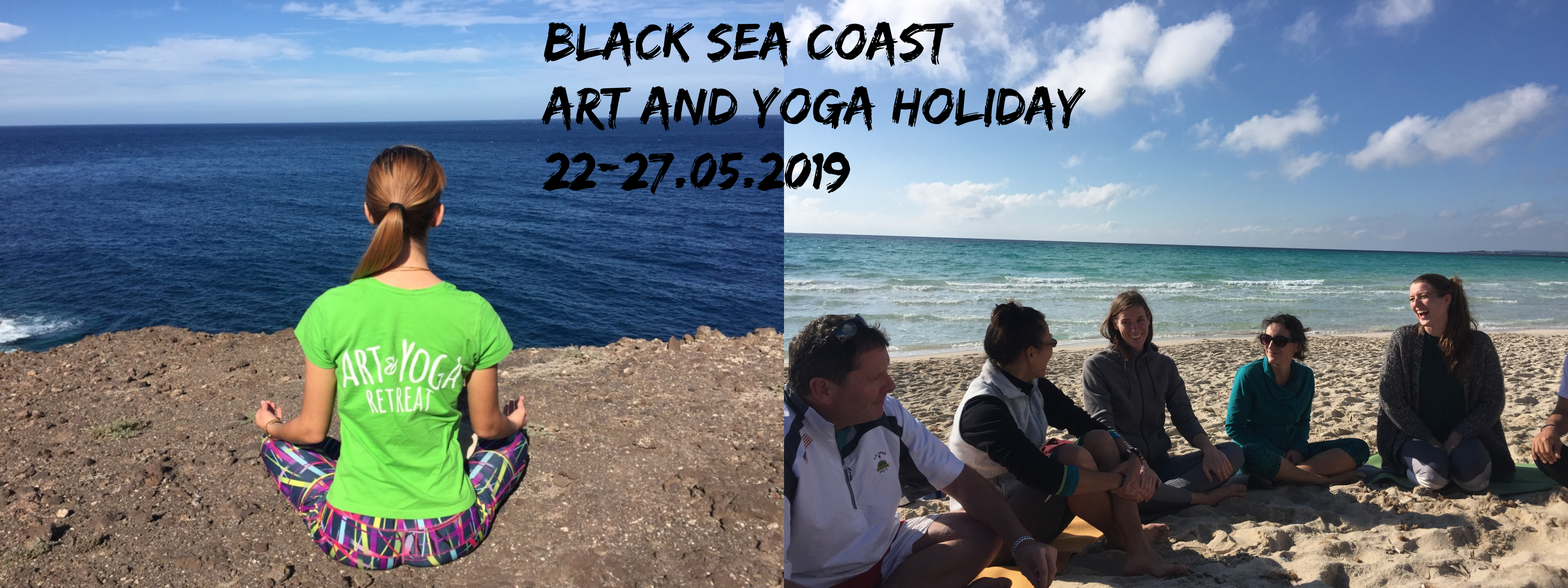Black sea coast- vacation with yoga, mindfulness and art